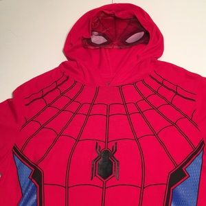 Spider Man Shirt with Hood and Mask by Marvel